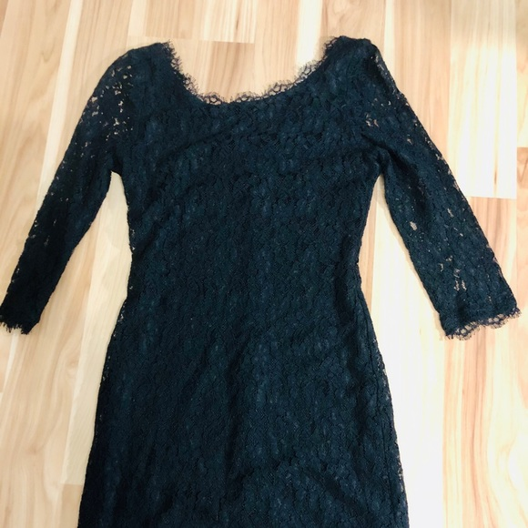 Aritzia babaton black lace dress size 6